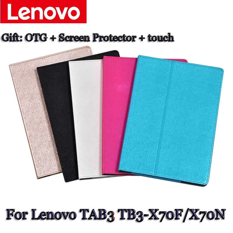 protective rotation pu leather case for google nexus 7 purple Leather Case Stand For Lenovo TB3-X70F TB3-X70N clamshell Case for tablet PU Protective Shell protective Leather Case+gift