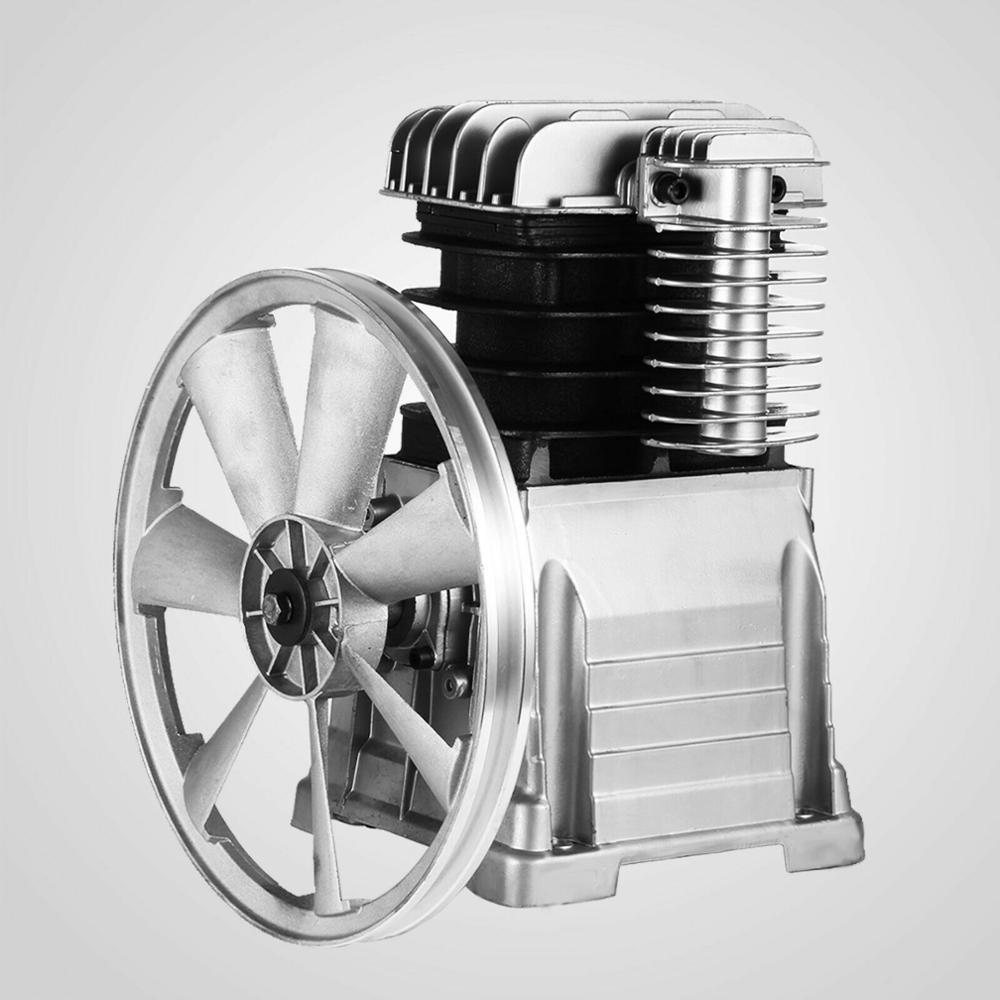 3HP 115PSI, una sola etapa, 11.8cfm, bomba de compresor de aire de una etapa, doble cilindro, cabezal de compresor de aire de aluminio