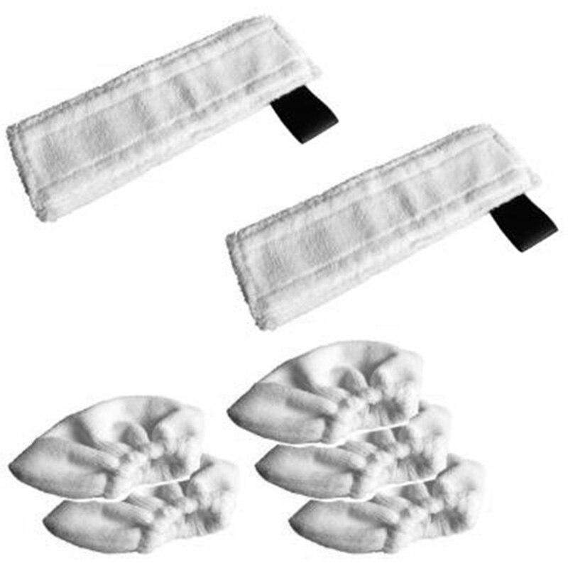 Venda quente 7 pçs substituição vapor mop pano capa almofadas de limpeza do agregado familiar capa de pano para karcher sc2 sc3 sc4 sc5