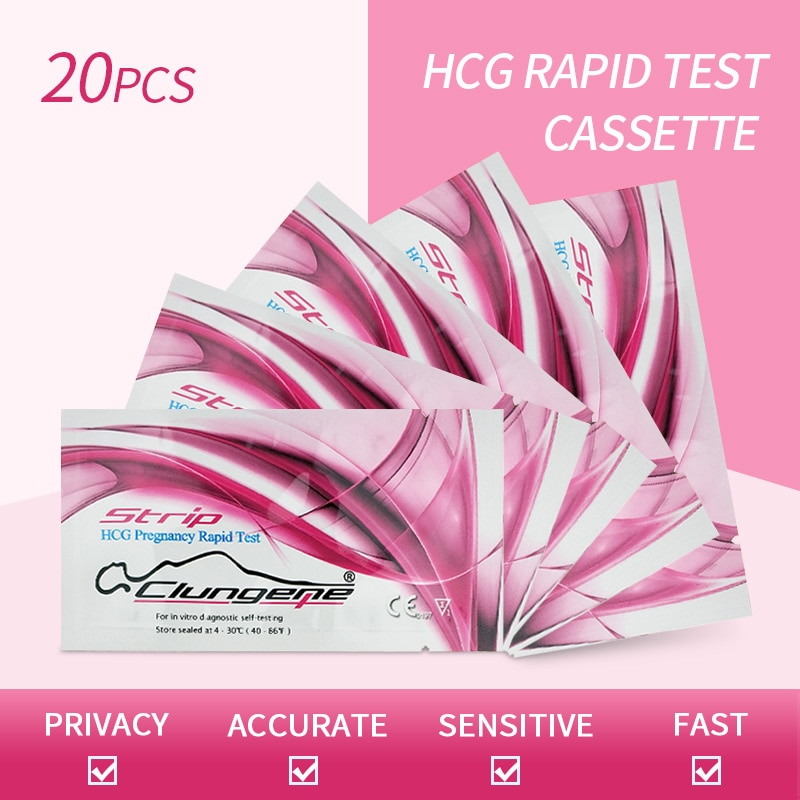 20PCS Pregnancy Urine Rapid Test Strip Household Rapid Test Ovulation LH Test Strip Kit
