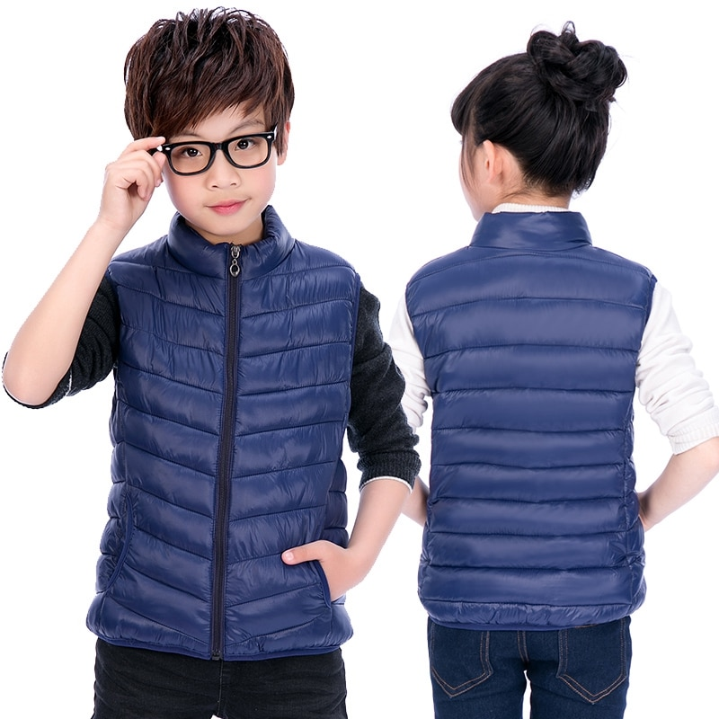 Children Clothing Boys Girls Warm Waistcoats Autumn Winter Outerwear Coat Vests KidsToddlers Thick Padded Warm Jacket 3-16 Years
