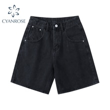 New 2021 Summer High Waist Denim Shorts Women Casual Loose Ladies Fashion Plus Size Fashion Button W
