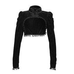 Осенняя и зимняя блузка женская 2020 S-XXL женская готическая шаль с кисточками стойка длинный рукав накидка Топы Блузка Topy damskie