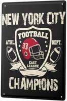 since 2004 tin sign nostalgia new york football