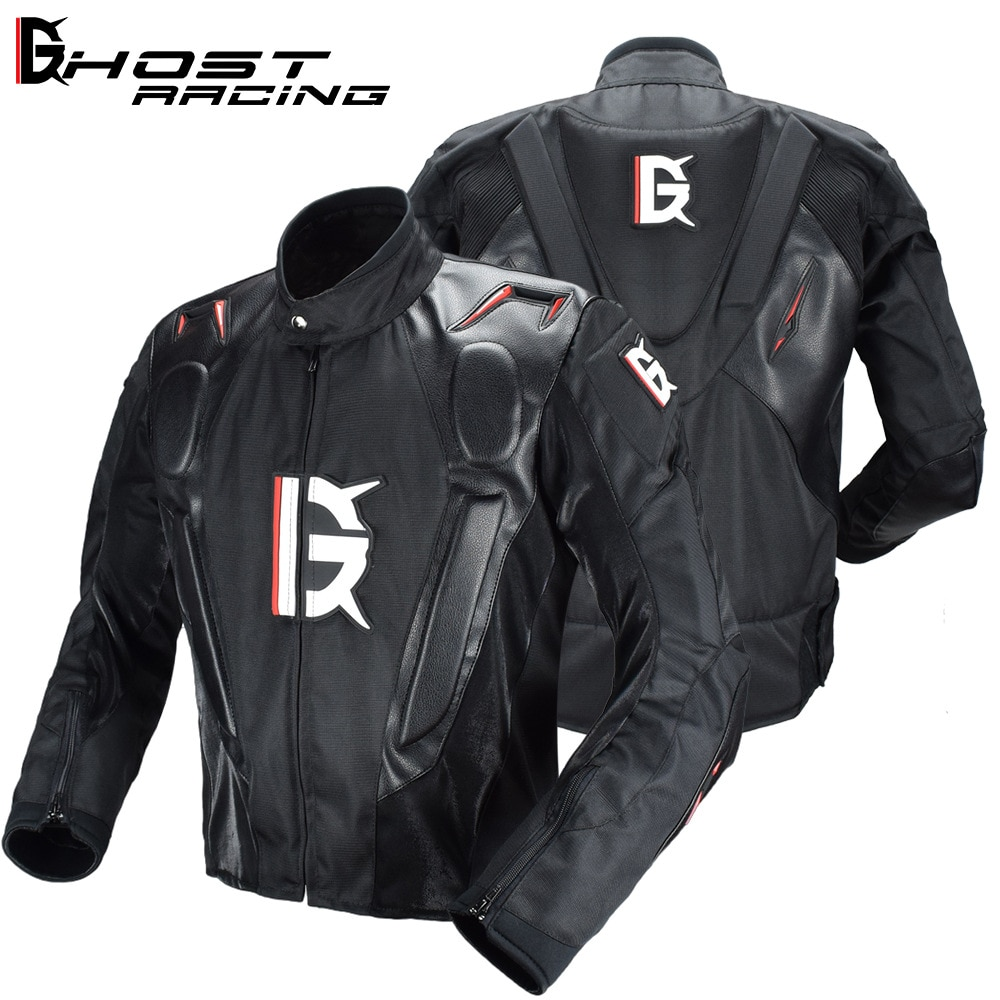 GHOST RACING Motorcycle Jacket Motorbike Riding Windproof Motocross Full Body Protective Gear Armor Winter Moto Clothing