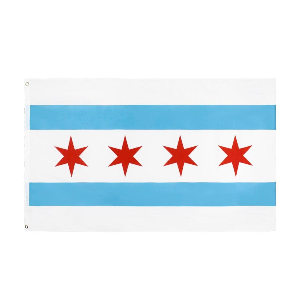 90*150cm bandeira chicago