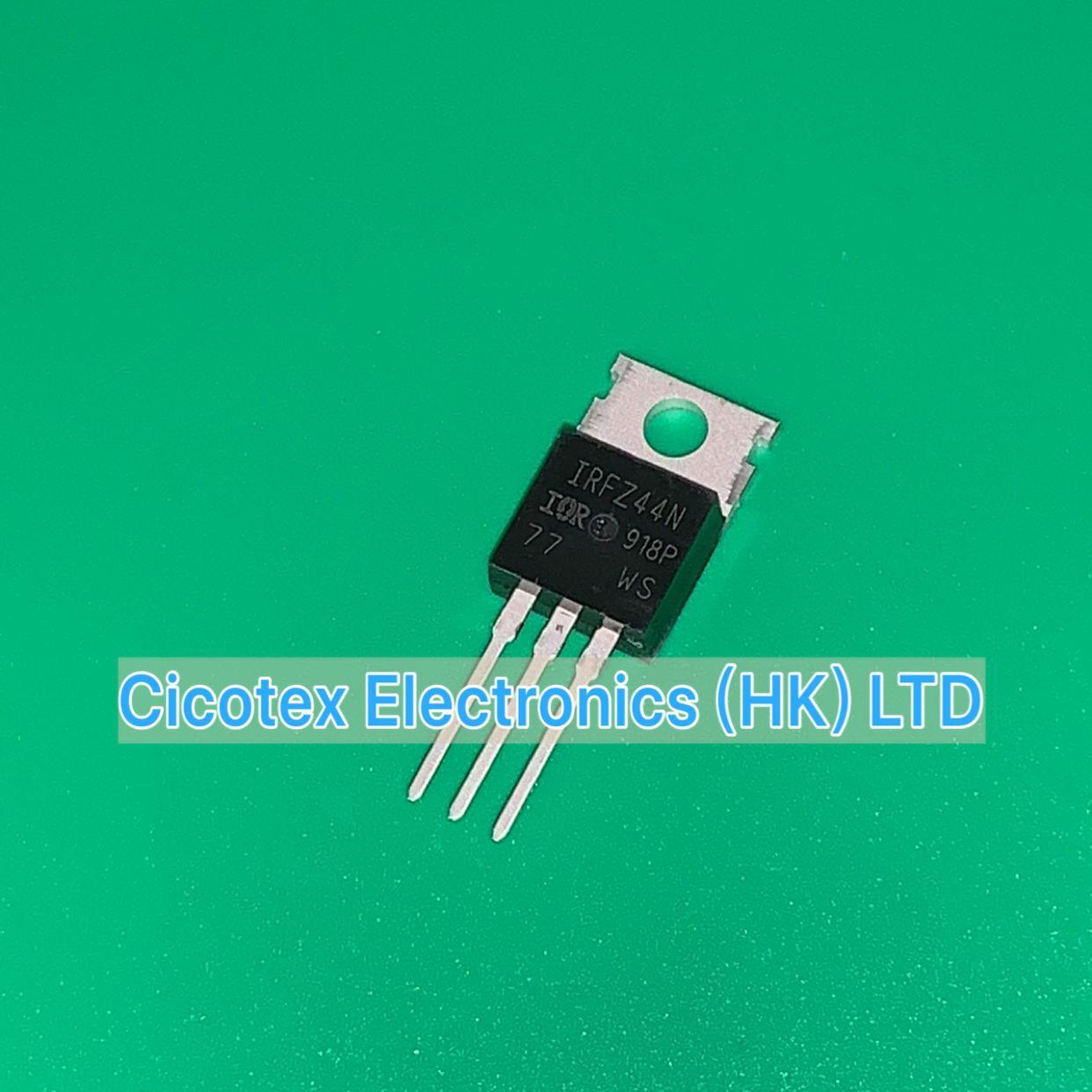 10 stks/partij IRFZ44N 55V49A veld effect transistor TO220 NPN IRFZ44 IRFZ44NPBF TO-220AB MOSFET N-CH 55 V 49A TO220AB