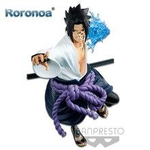 RORONOA Original Banpresto Anime Naruto Vibration Stars Uchiha Sasuke Chidori Ver. Figurine figurale modèle poupées Brinquedos