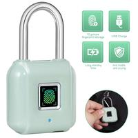 KERUI Smart Fingerprint Padlock USB Rechargeable Mini Size Finger Touch Lock for Door Cabinets Gym Locker Bikes