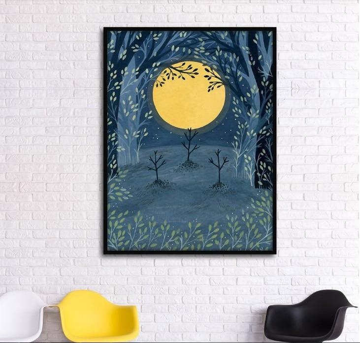 Cuadro sobre lienzo para pared, Cuadros decorativos modernos de paisaje abstracto a mano libre, imagen Modular para sala de estar