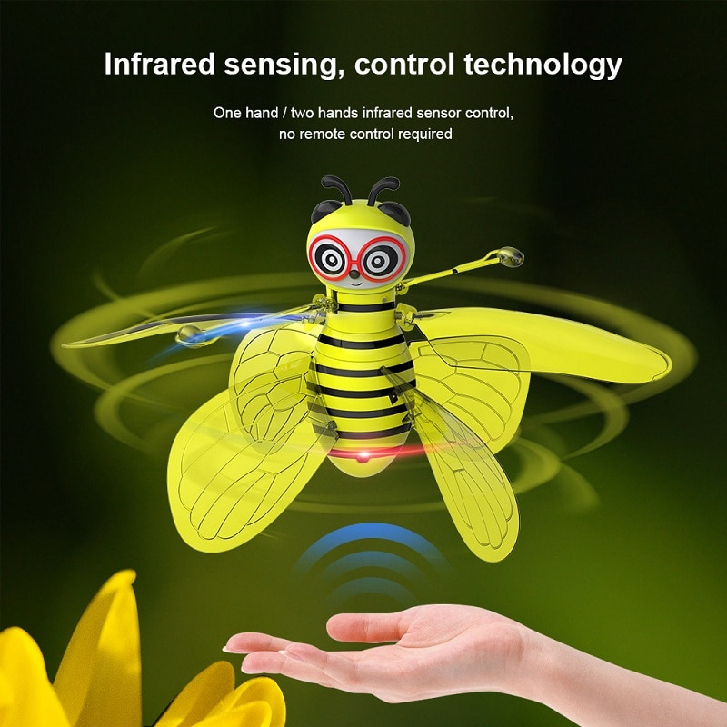 RC Flight Mini Bee Electronic Remote Control Toys Infrared Induction Toy RC Airplane Animals Remote