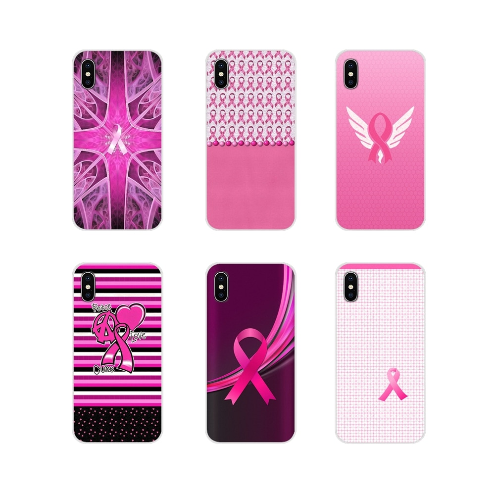 Accessories Phone Covers For Samsung A10 A30 A40 A50 A60 A70 Galaxy S2 Note 2 3 Grand Core Prime Girly Breast Cancer pink Ribbon