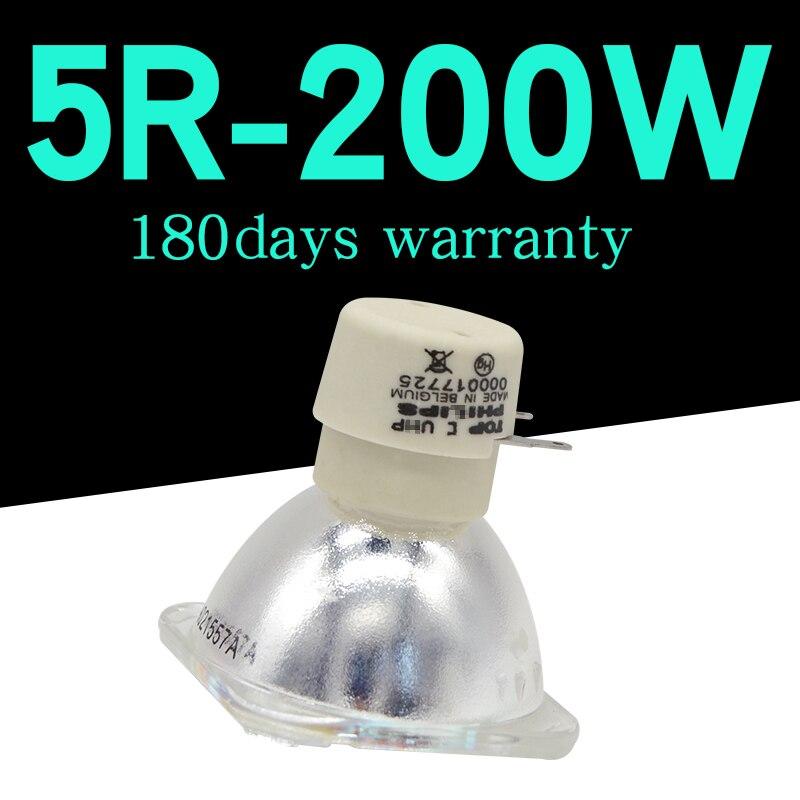 Alta qualidade 1 pc/lote substituição da lâmpada do projetor msd platinum 5r para feixe 200 w sharpy movendo a cabeça feixe de luz lâmpada luz estágio