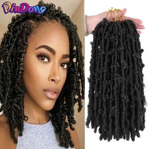 DinDong Butterfly Locs Goddess Locs вязаные крючком волосы речные искусственные Локи Волнистые Крючком с вьющимися волосами синтетические плетеные волосы для наращивания