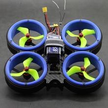 B6FPV abeille pare-chocs 3 pouces 159mm Whoop FPV Kit de cadre de course 3D pvc conduit CineWhoop pour RC FPV course Drone MXC 349 frelon vert