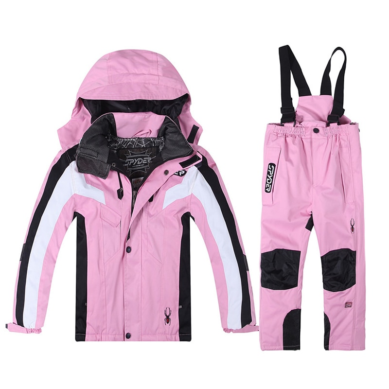 Thickening Child Ski Suit Windproof Thermal Snowboard Overalls Skiing Jacket and Pant For Skis Kids Snow Costumes Outdoor Wear