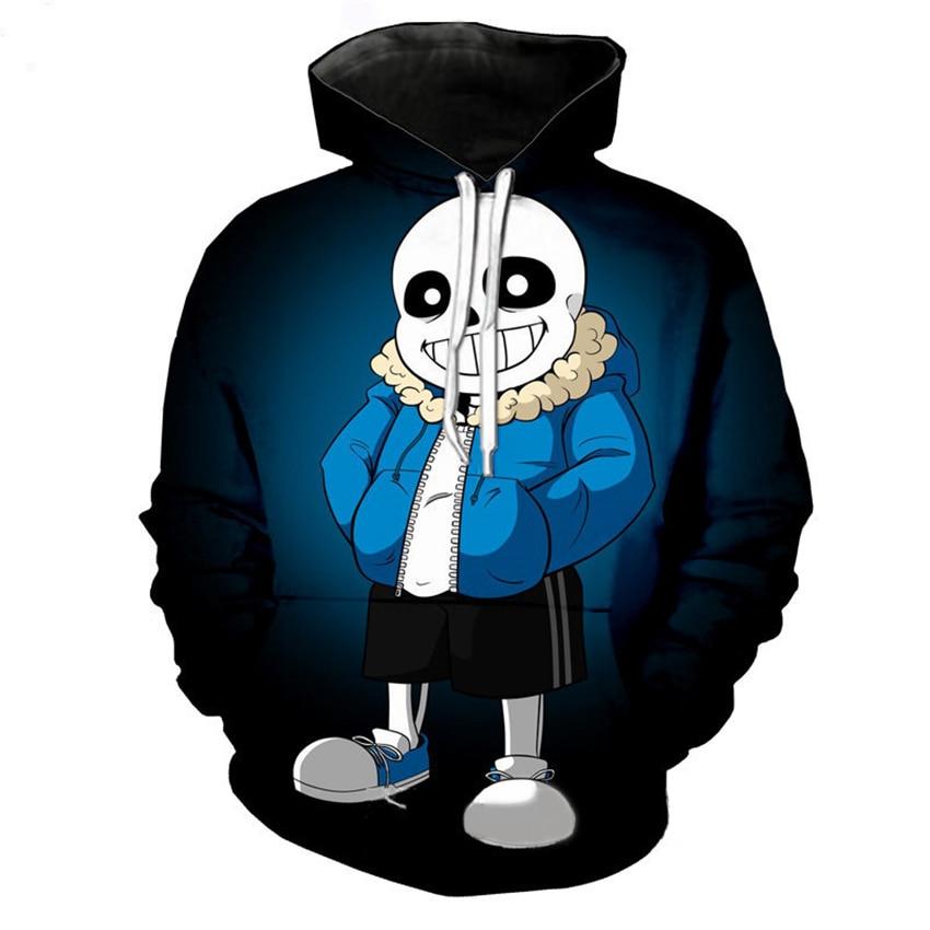 Juego Undertale cosplay disfraz de rol Sans y Frisk Cos unisex ropa Casual chaqueta con capucha informal chaqueta de vida diaria 3D Sudadera con capucha