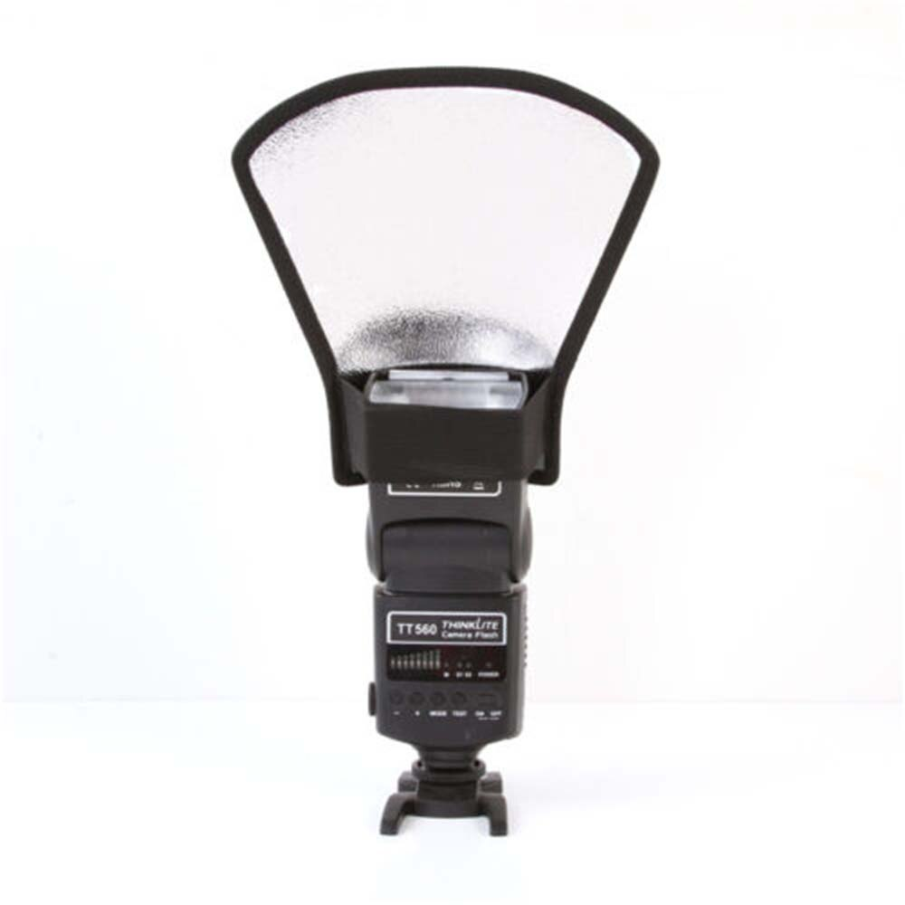 Flash difusor softbox prata/refletor branco para Canon Nikon Pentax Yongnuo SLR