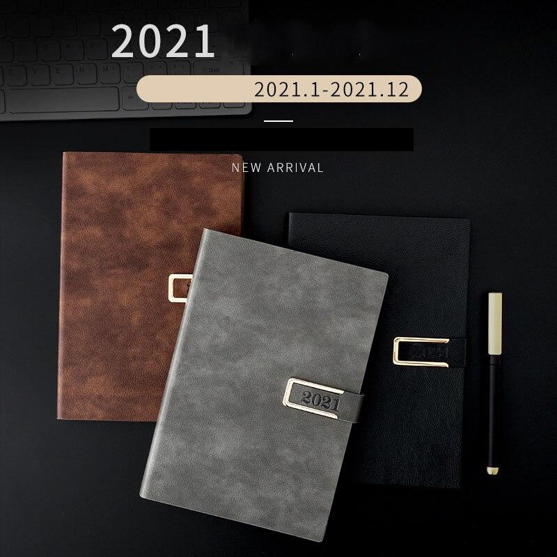 Planejador 2021 organzier a5/a6 agenda diário cadernos e diários bloco de notas semanal plano mensal viajante negócios escola papelaria