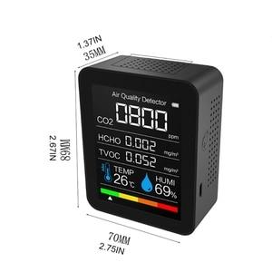 TVOC CO2 Meter Digital Temperature Humidity Sensor Tester Air Quality Monitor