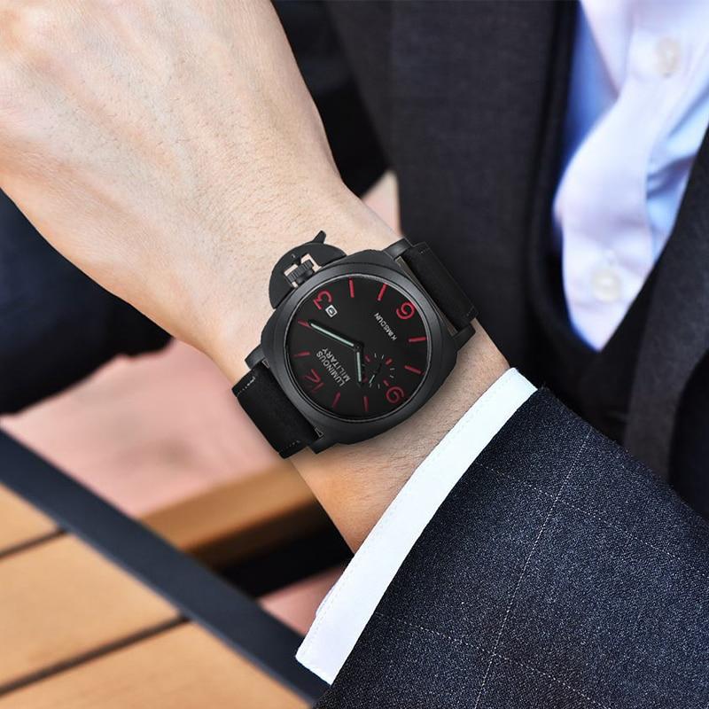 Luxury Top Brand Sport Watch Men Waterproof Quartz Brown Leather Military Wrist Watch Men Army Clock Male relojes hombre hodinky