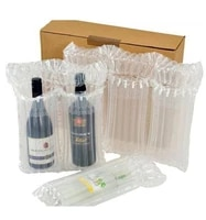 free sample triple wine bottle inflatable air column bag filling