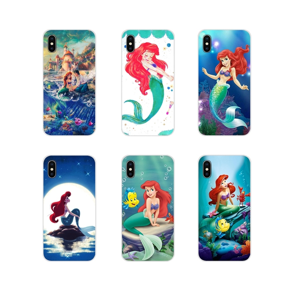 Accesorios de la cáscara del teléfono cubre Ariel little mermaid para Samsung Galaxy A3 A5 A7 A9 A8 estrella A6 Plus 2018, 2015, 2016, 2017