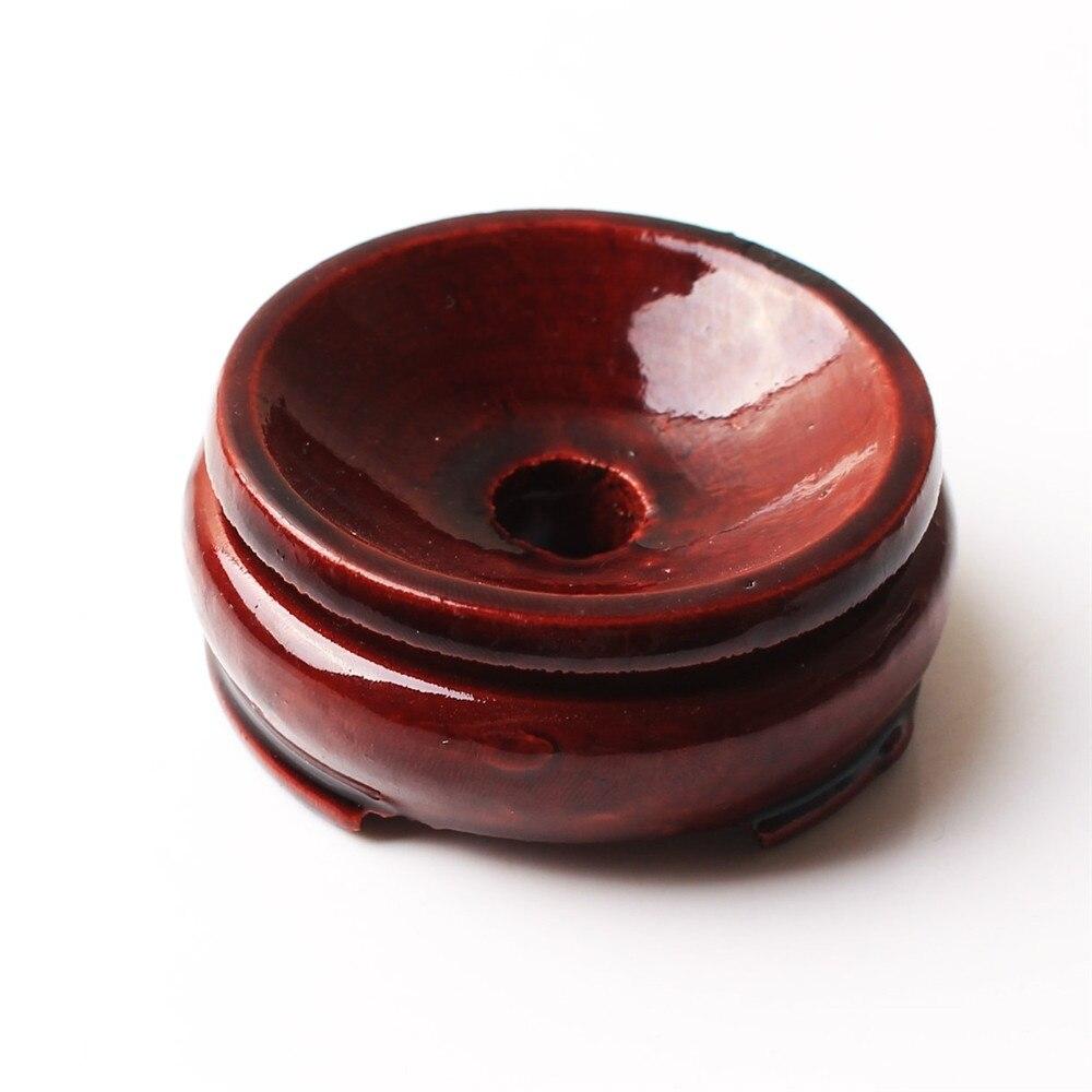 50mm de madeira suporte de artesanato base base base base pedestal com furo para bola de cristal globo esfera bola ovo