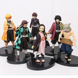Anime Demon Slayer Figure Tanjirou Nezuko Action PVC Model Collection Toys Children Gift With Box