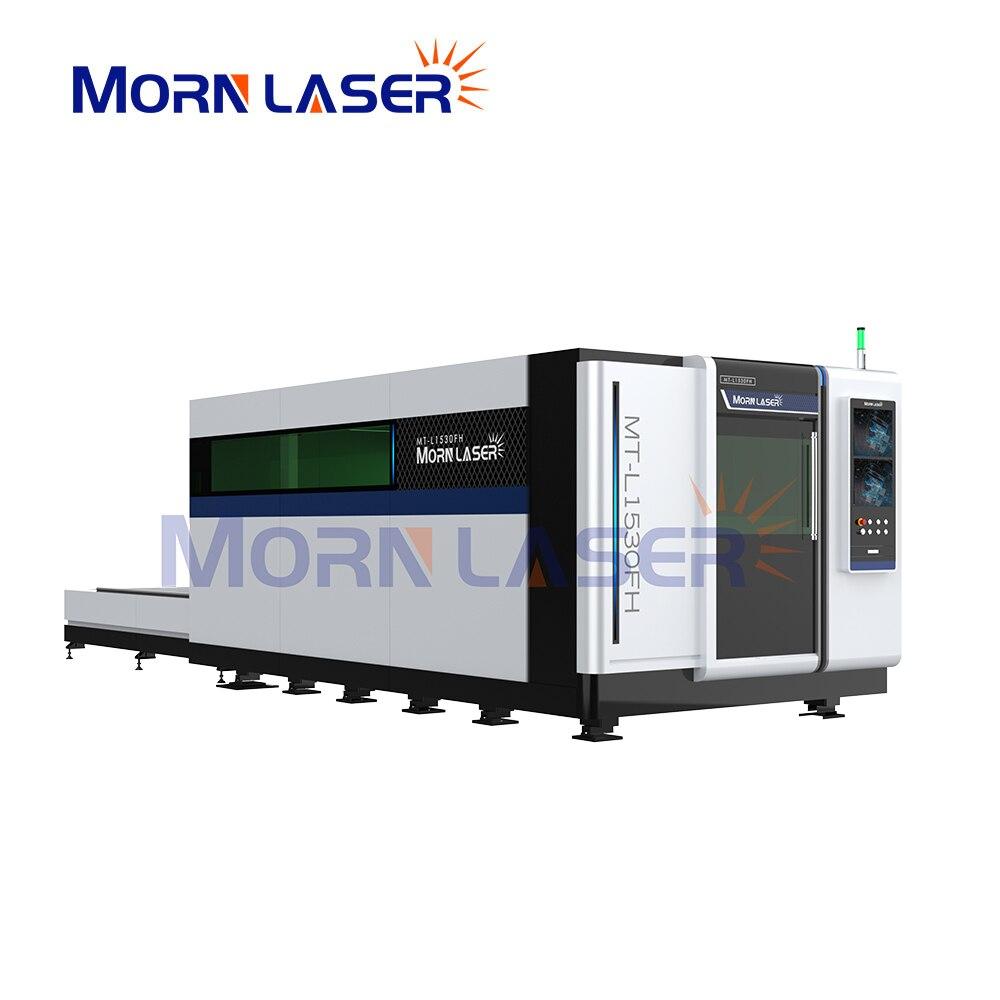 Фото - Full enclosed laser cutting machine 1530 high speed metal cutting machine at full speed