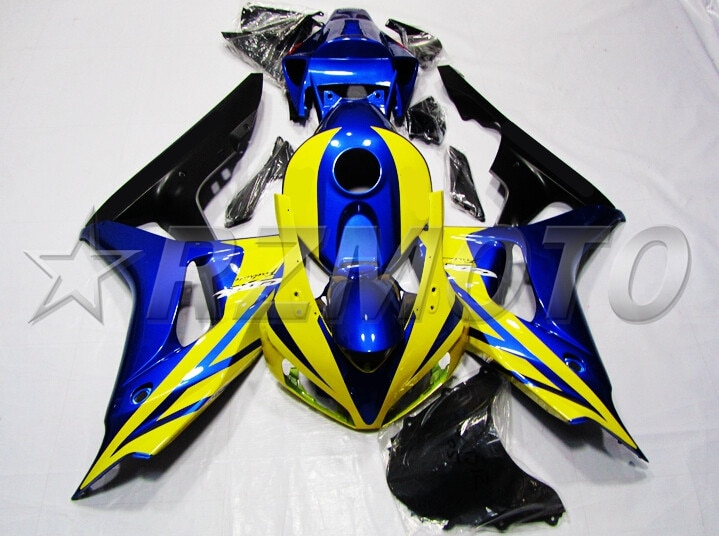 Molde de inyección superior nuevo Kit de carenado completo ABS apto para Honda cbr1000cr 06 07 2006 2007 1000hr carenados azul caliente amarillo