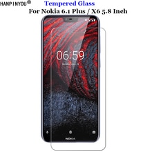 For Nokia 6.1 Plus Tempered Glass 9H 2.5D Premium Screen Protector Film For Nokia X6 TA-1099 5.8
