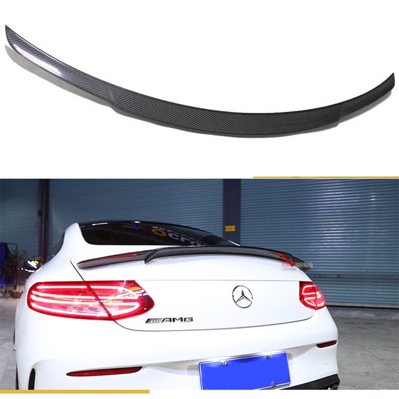 For Mercedes C Class W205 Spoiler Carbon Fiber Rear Trunk Spoiler Wing C200 C250 C300 C180 C350 Coupe 2015 - UP (coupe Only)