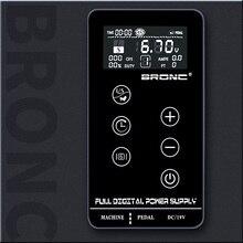 BRONC Professional Touch Screen Tattoo Power Supply TPN-35  Makeup Screen Digital LCD for Tattoo Machines gun pen