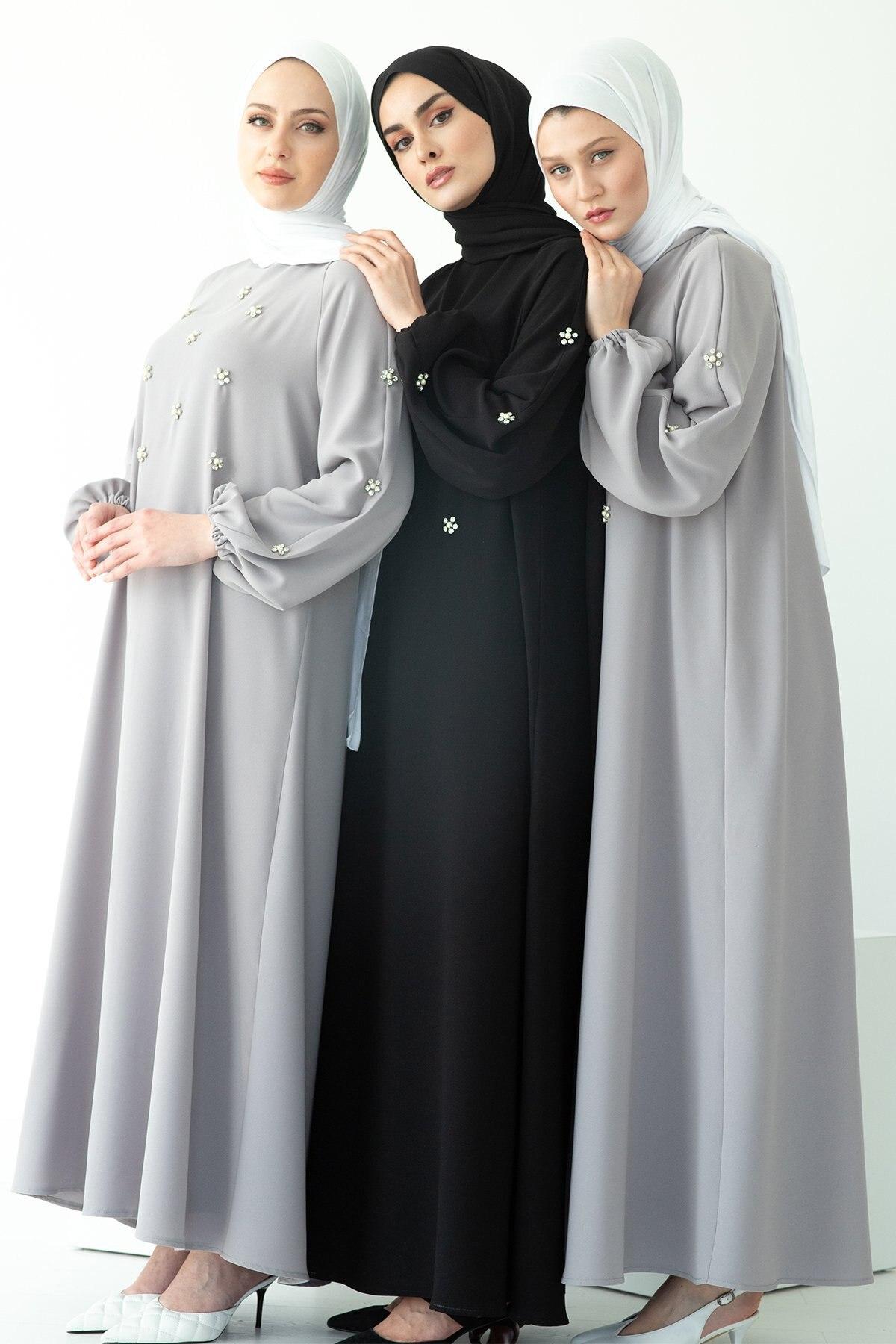 Muslim Dress Women Hand Sewn Drill Raglan Sleeve long Dress Middle East Ramadan Dress Arab Women Dress Abaya Dubai Abaya Turkey gauzy raglan sleeve crane pattern tied dress