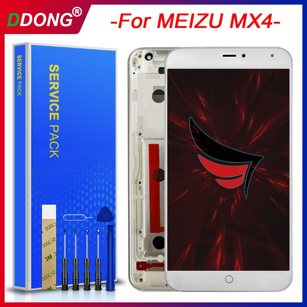 Качество AAA для MEIZU MX4 ЖК + рамка экран дигитайзер сенсорный Замена|Экраны
