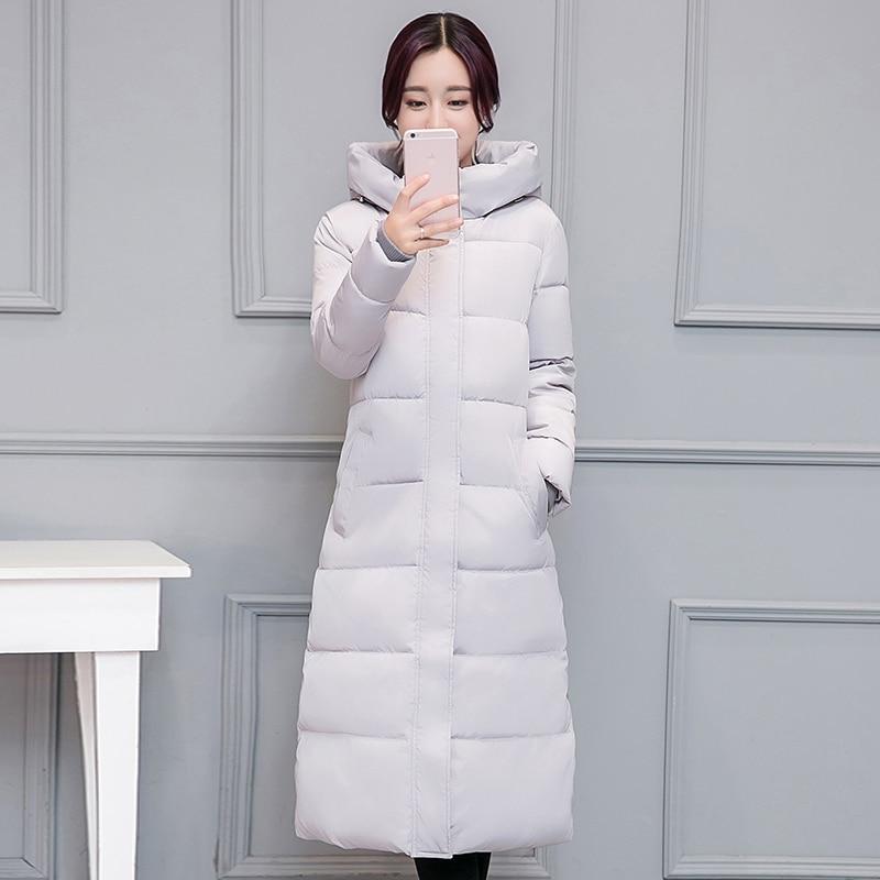 Abrigo de algodón con capucha para Mujer, abrigo largo y grueso, prendas...