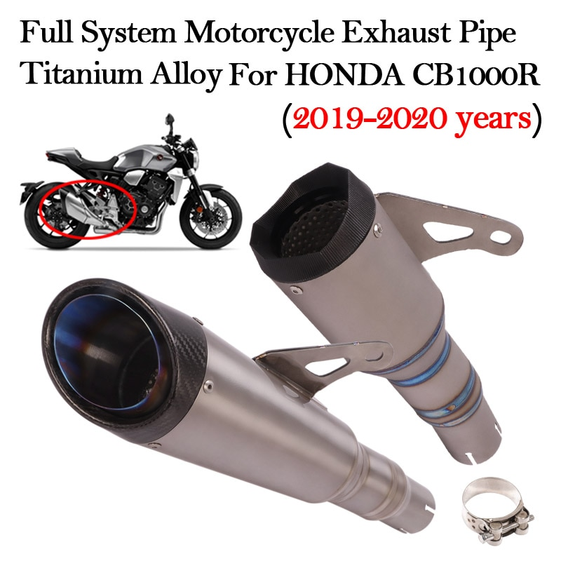 Slip On Motorcycle Exhaust System Modified Titanium Alloy Escape Muffler Link Pipe For HONDA CB1000R Neo Sports Cafe 2019 2020