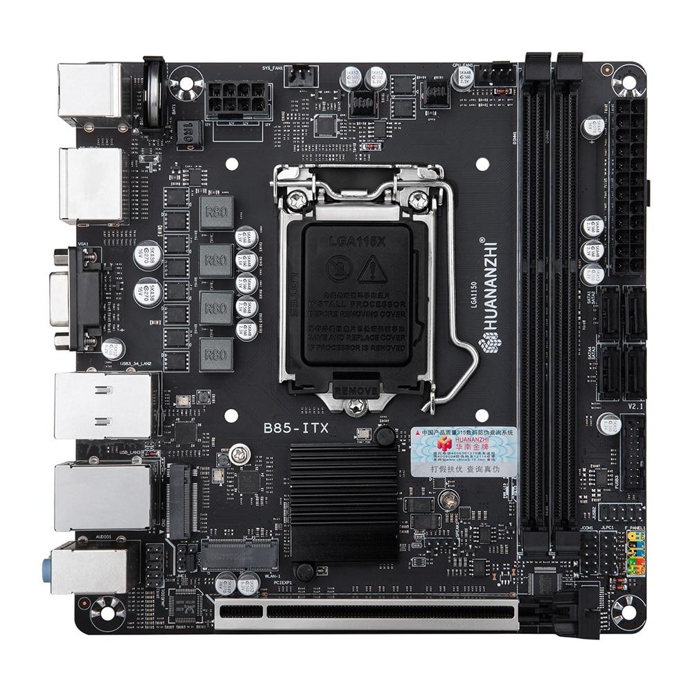 HUANANZHI B85-ITX إنتل اللوحة 2xDDR3 الذاكرة M.2 NVME واجهة DDR3 1333/1066MHz دعم LGA 1150 سلسلة المعالجات