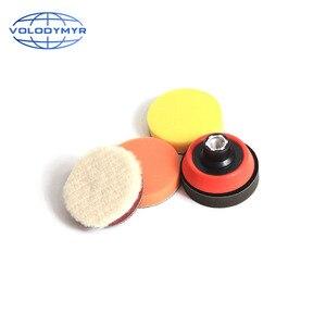 Image 3 - Набор для полировки дрели, полировальная Подушка 1, 2 или 3 дюйма, включает в себя красную губку для обработки воском, автомобильный буфер, полировщик для полировки
