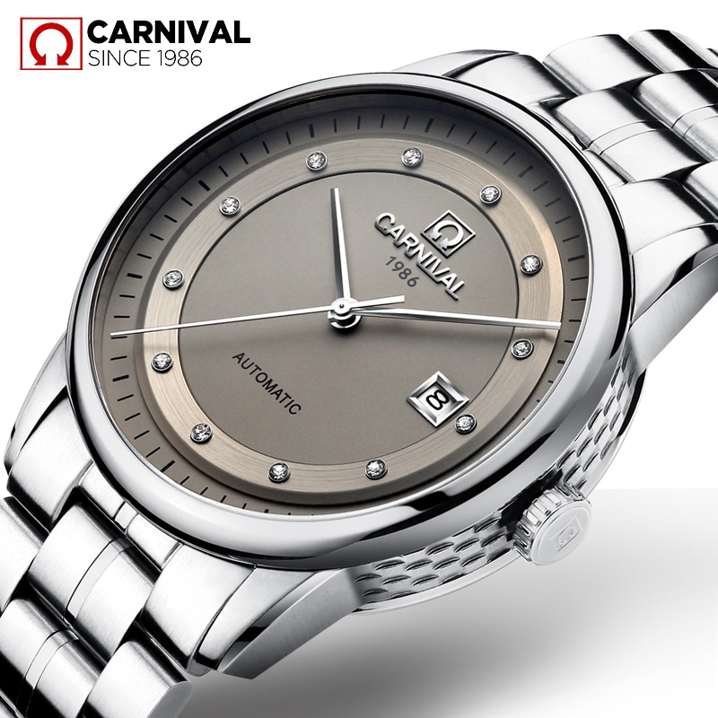 Carnival Japan MIYOTA reloj automático para hombres de marca de lujo, relojes mecánicos de negocios, relojes de pulsera deportivos de zafiro para hombres, reloj