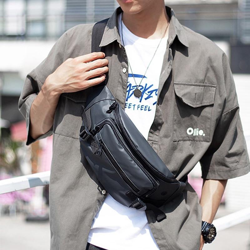 Männer Taille Tasche Wasserdichte Nylon Fanny Pack Brust Tasche Multifunktions Casual Crossbody Packs Outdoor Schulter Taschen Gürtel Taille Pack