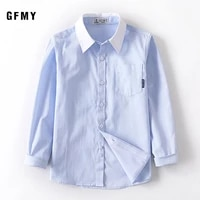 kids boys shirts long sleeve solid toddler shirts for boys 2021 spring cotton fashion school boy tops children clothes 2 11y
