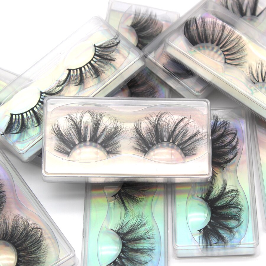 DamePapil Faux Mink 25mm Lashes In Bulk Wholesale 10/20/30/50/100 Pairs Lot Wispy Natural False Eyelashes 25 mm Lashes In Bulk