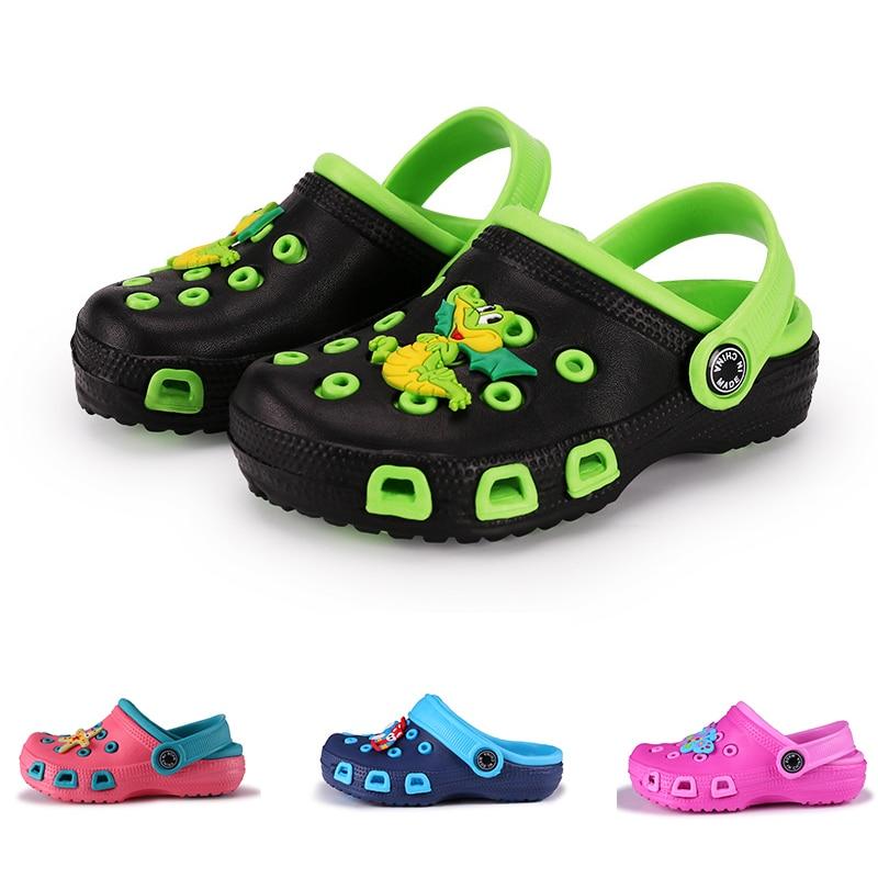 Fashion kids slippers boys girl garden shoes beach slippets children cartoon sandal baby spring summ