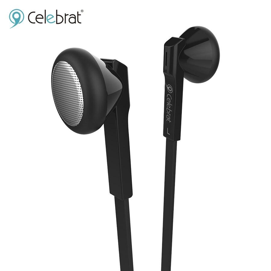 Celebrat D4 nuevo auricular deportivo con cable Supergraves 3,5mm auriculares dentro de la oreja con micrófono Mini auriculares para oppo a52