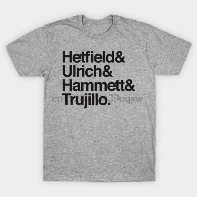 Men tshirt Short sleeve HETFIELD ULRICH HAMMET TRUJILLO   Metal Band   T Shirt tee tops Women t-shirt