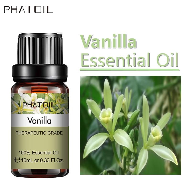 Óleos essenciais naturais puros do difusor do óleo essencial da baunilha de 10ml 30ml 100ml para relaxar ansiedade