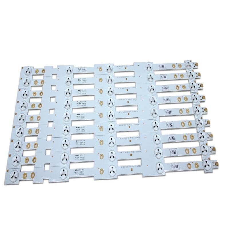 100% جديد الأصلي LED الخلفية قطاع 9 قطعة/الوحدة 39