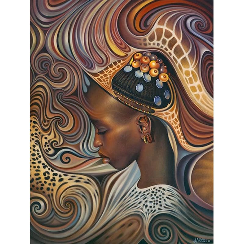 Полностью квадратная/круглая дрель 5D DIY Алмазная картина африканская Женская Вышивка moasic вышивка крестиком 3D настенная живопись ремесло по...